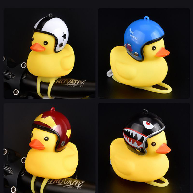 cartoon yellow little duck shape bicycle bell